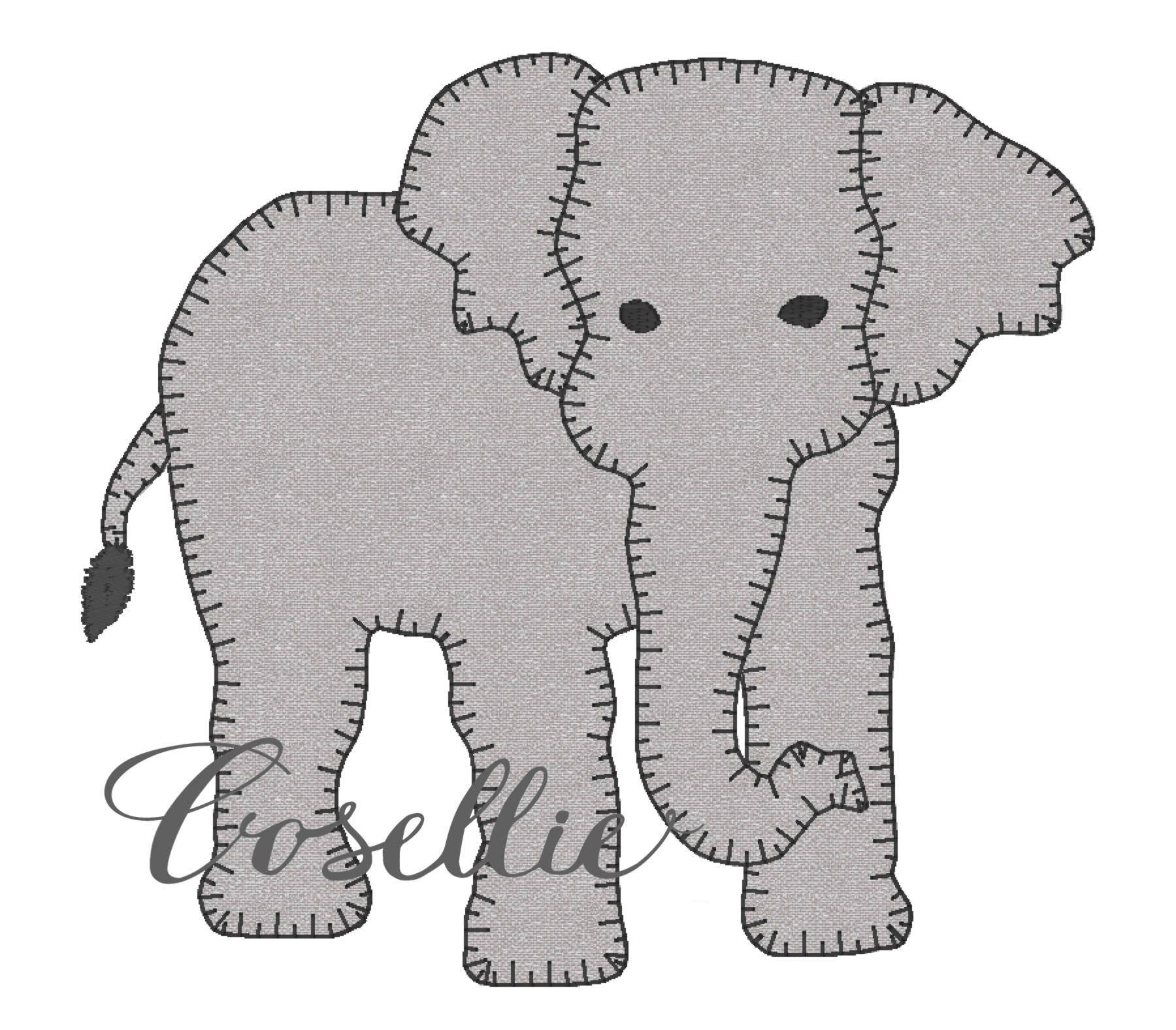 Elephant embroidery design Elephant embroidery design   Etsy