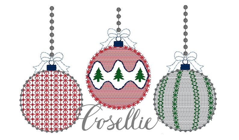 Christmas Ornaments Embroidery Design Ornaments Embroidery Design Vintage Stitch Christmas Christmas Ornaments Vintage
