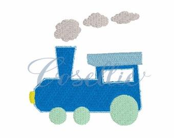 Mini train embroidery design, Vintage train embroidery file, Train embroidery design, Mini embroidery design, Locomotive, Train