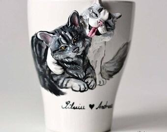Custom Double 3D Pet Mug