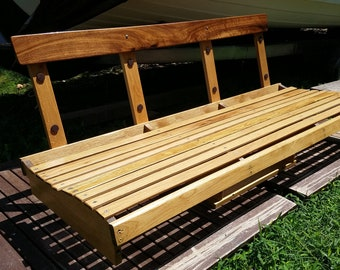 Wooden Boat Bench