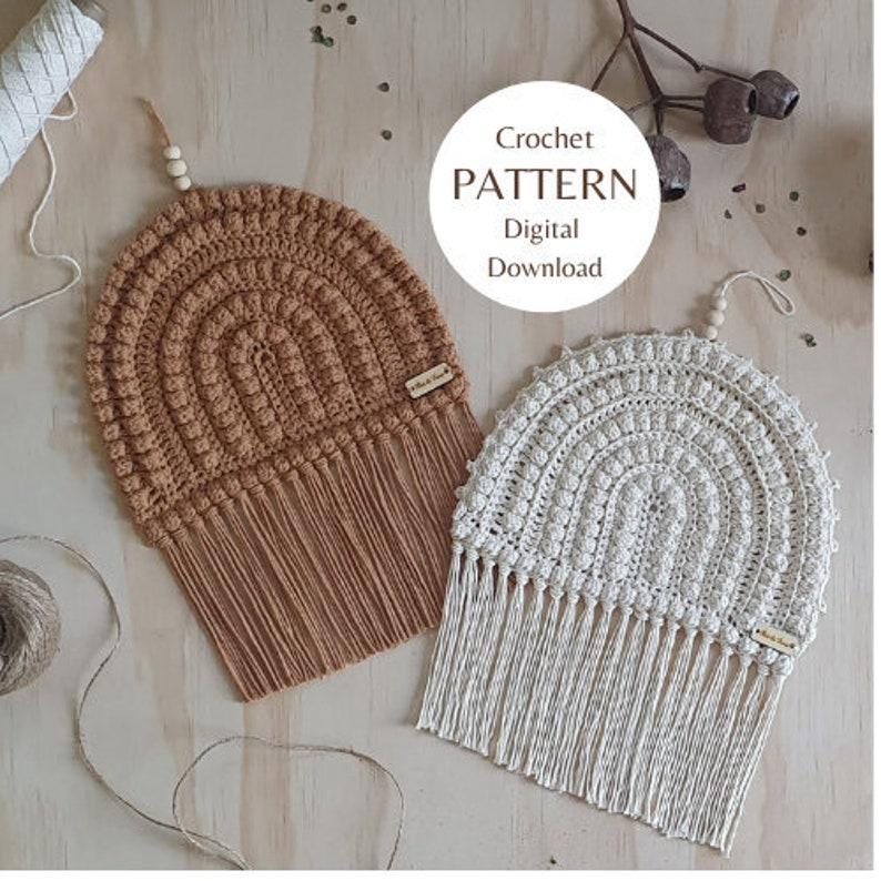 DIGITAL DOWNLOAD Crochet Rainbow Arch Pattern // Boho Crochet image 1