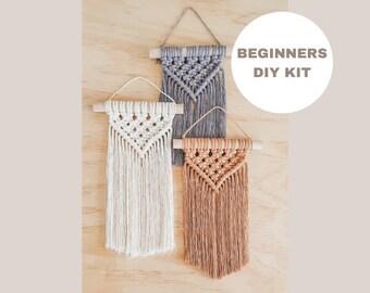 Beginner Mini Macrame DIY Kit // Macrame Kit // Macrame Wall Hanging // Single Kit // Craft kit // Kids craft