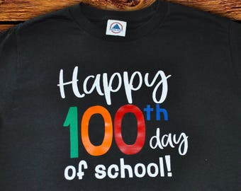 "Adult ""100th day of school"" shirt // Teacher shirts// 100 days of school"