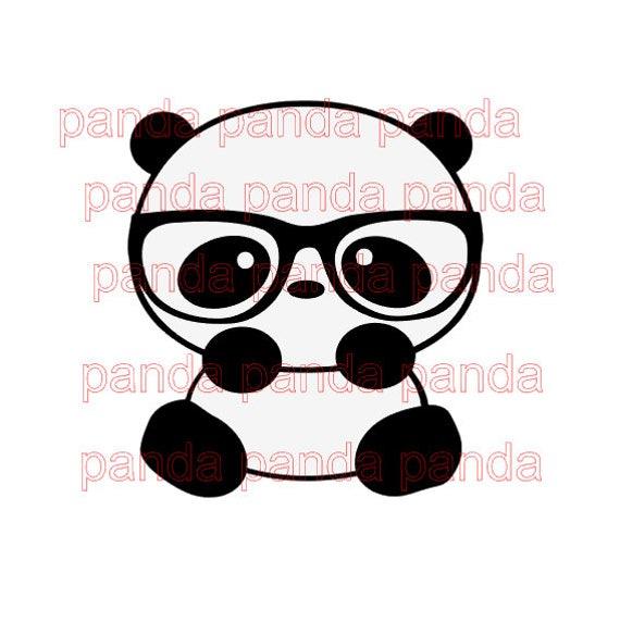 f3831b219b2 Chinese Grate Panda With Glasses Design files svg studio3 pdf