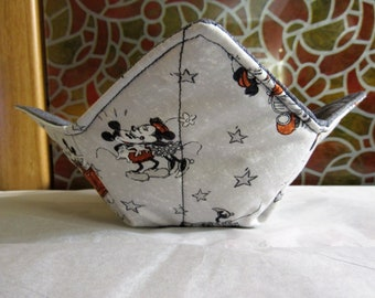 Mickey with Blue Background Reversible Microwavable Bowl Cozy