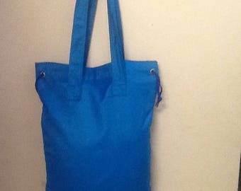 Blue Tapestry Bag w/Draw String