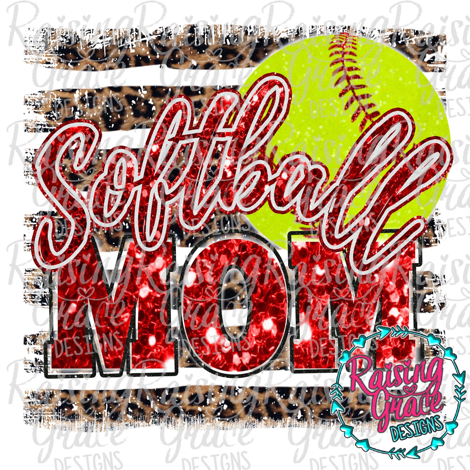 Softball mom l Leopard l SUBLIMATION TRANSFER
