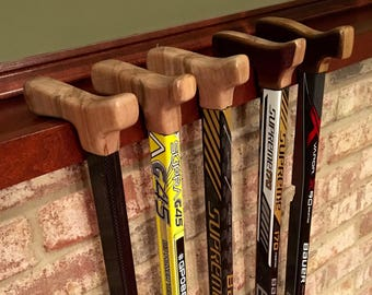 Hockey Stick Cane - Mission - STIR-D1 - Black/Silver (Custom sized, available in 30 to 38inch size)