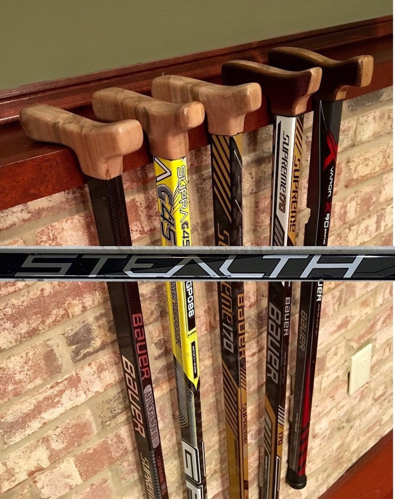 Hockey Stick Cane: Easton Stealth CT - Black/Silver/White (Custom sized,  max 33inches)