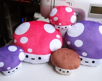 Mushroom Fam Plush Pillows