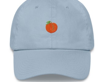 a40fb55b0b71a ThiccEats Peach Icon Classic Dad Cap