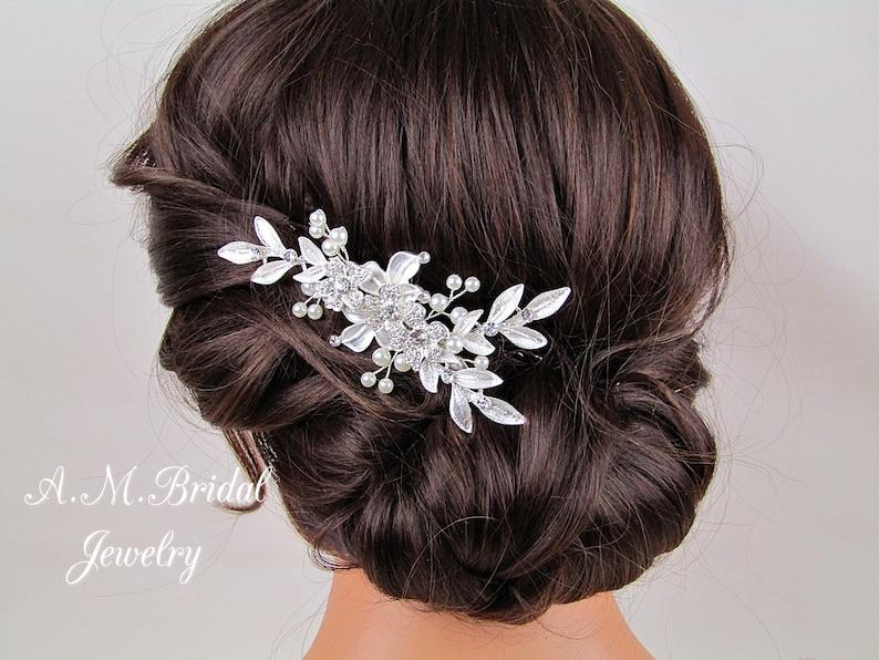 Bridal Hair Accessories Wedding Hair Comb Bridal Hair Comb Wedding Hair Jewelry Bridal Hair Piece Silver Bridal Headpiece Wedding Accessory