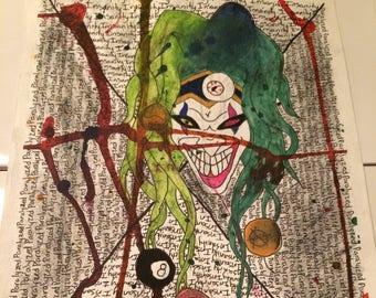 Paralyzed Insanity Mixed Media Drawing