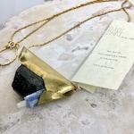 Tourmaline, Selenite + Kyanite Necklace