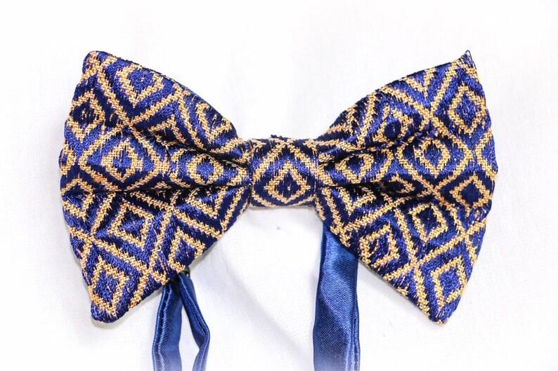 Blue Ethiopian tie novelty bow tie African art Ethiopian clothing Ethiopian  dress habesha clothing traditional clothing African men clothing