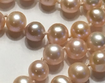Pale Pink Vintage Freshwater Pearl Necklace