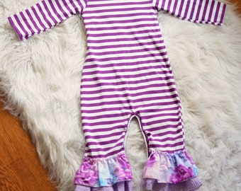 44f7423c7347 Floral Ruffle Romper  Floral Outfit  Icing Romper  Toddler Romper  Winter  outfit  Toddler romper