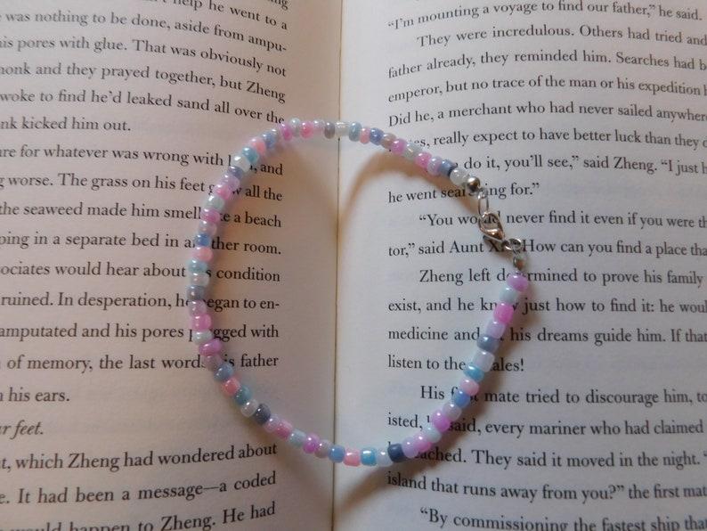 Pastel bead ankletbead ankletpastel ankletmermaid ankletpinkpurpleblueanklethandmadejewellerymermaid jewelleryhandmade anklet