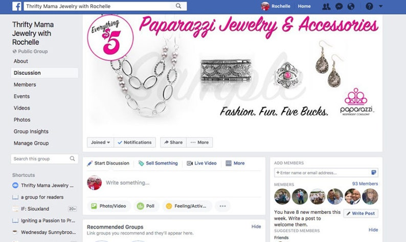 Paparazzi Facebook Group Page Banner INSTANT DOWNLOAD