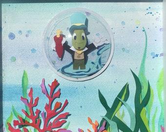 Jiminy Cricket Floating in Bubble