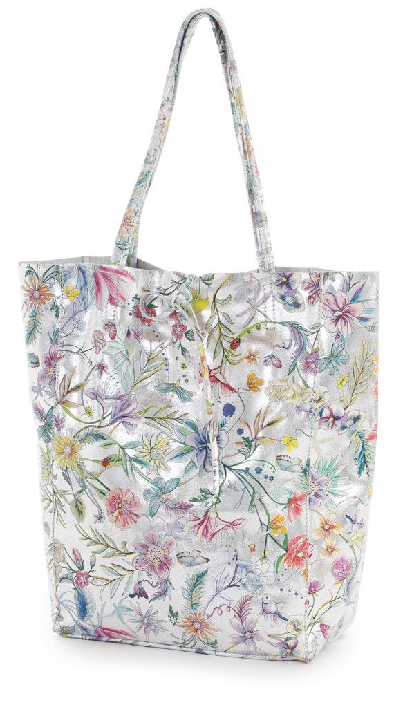 LiaTalia Genuine Italian Soft Leather Leightweight Hobo Shopper Handbag Astrid