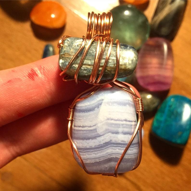 Peace ~ Blue Lace Agate /& Blue Kyanite