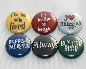 Harry Potter inspired scrapbook flair flat back buttons - The boy who lived