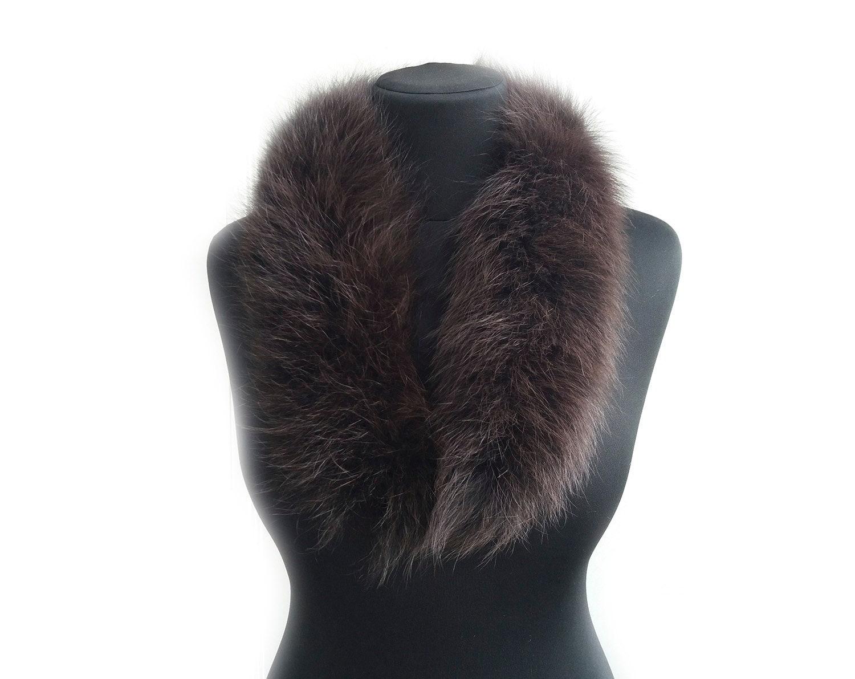 Brown Brown Brown trim collar strip Brown  hoods  Trim  Furry Stripe Fur Long sewing supplies DIY f946bd