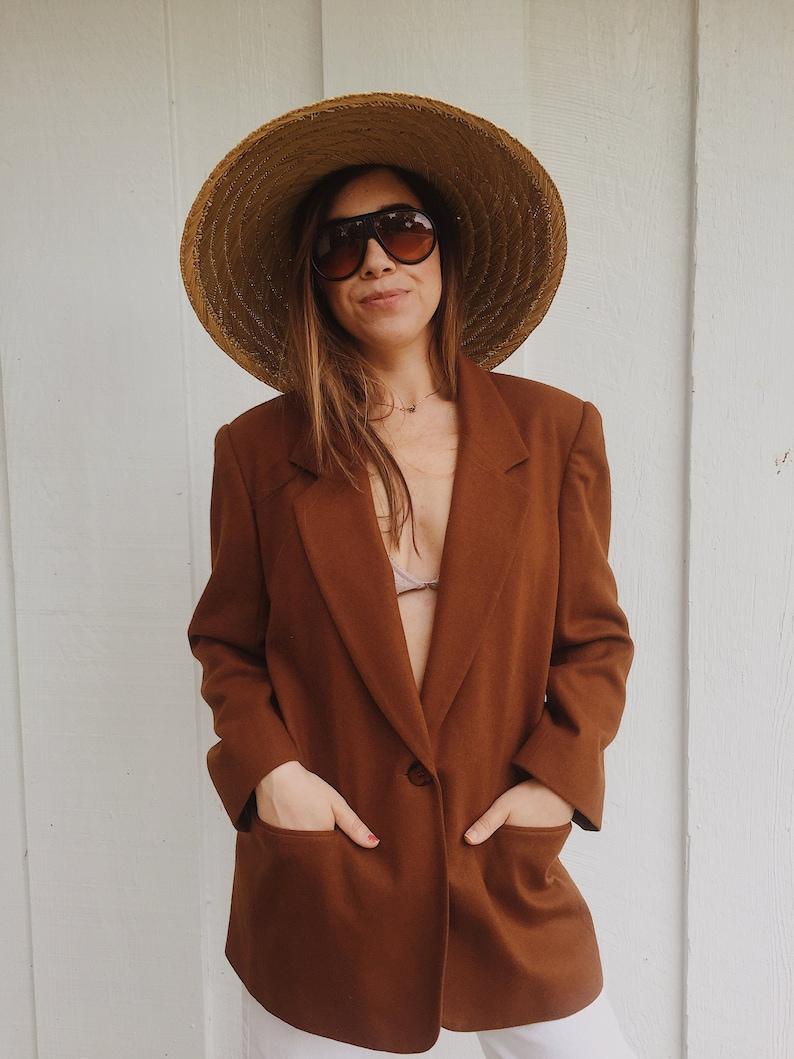 Vintage Camel 100/% Wool Blazer