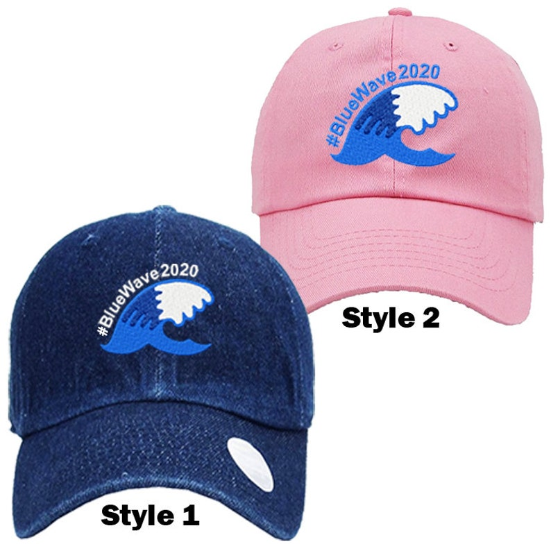 481aa6ebb9a3e Blue Wave 2020 Polo Style Baseball Cap Dad Hat Resist Blue