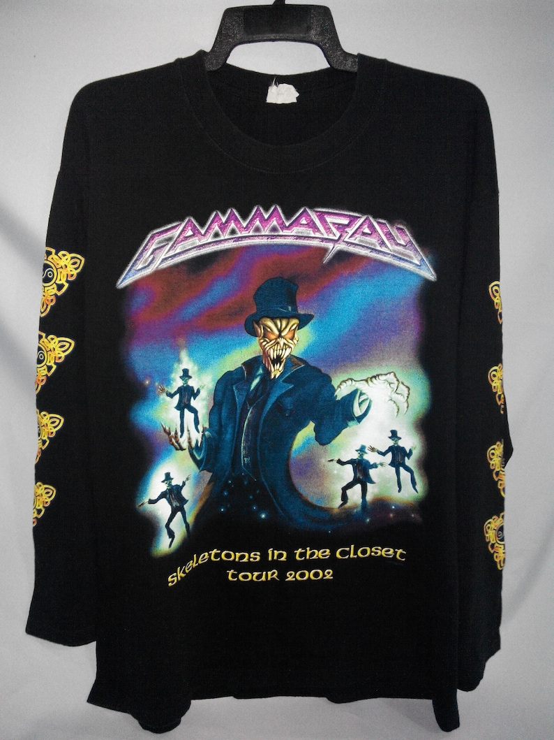 Gammaray Skeletons In The Closet Tour 2002 Heavy Metal Power Metal Band Concert Longsleeve Shirt