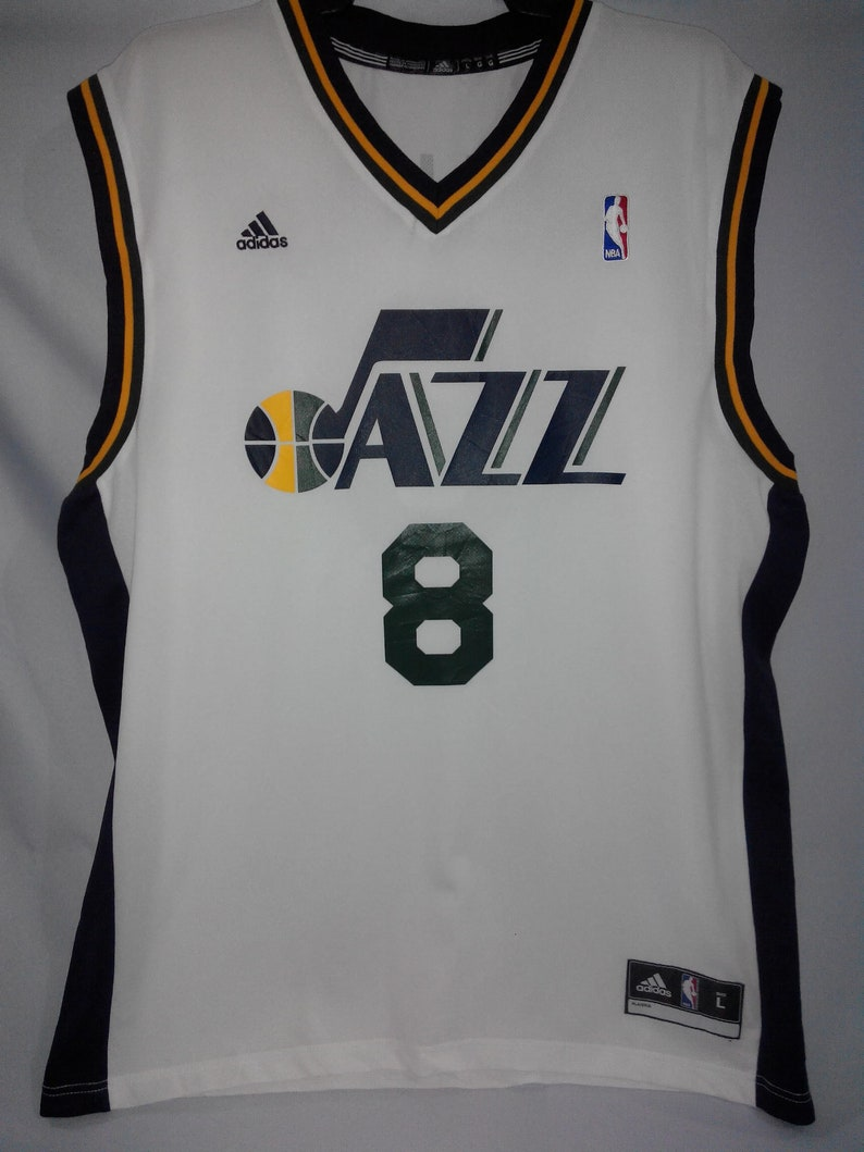 official photos 1d685 9d08e Adidas Swingman Utah Jazz #8 Deron Williams NBA Jersey Men's L