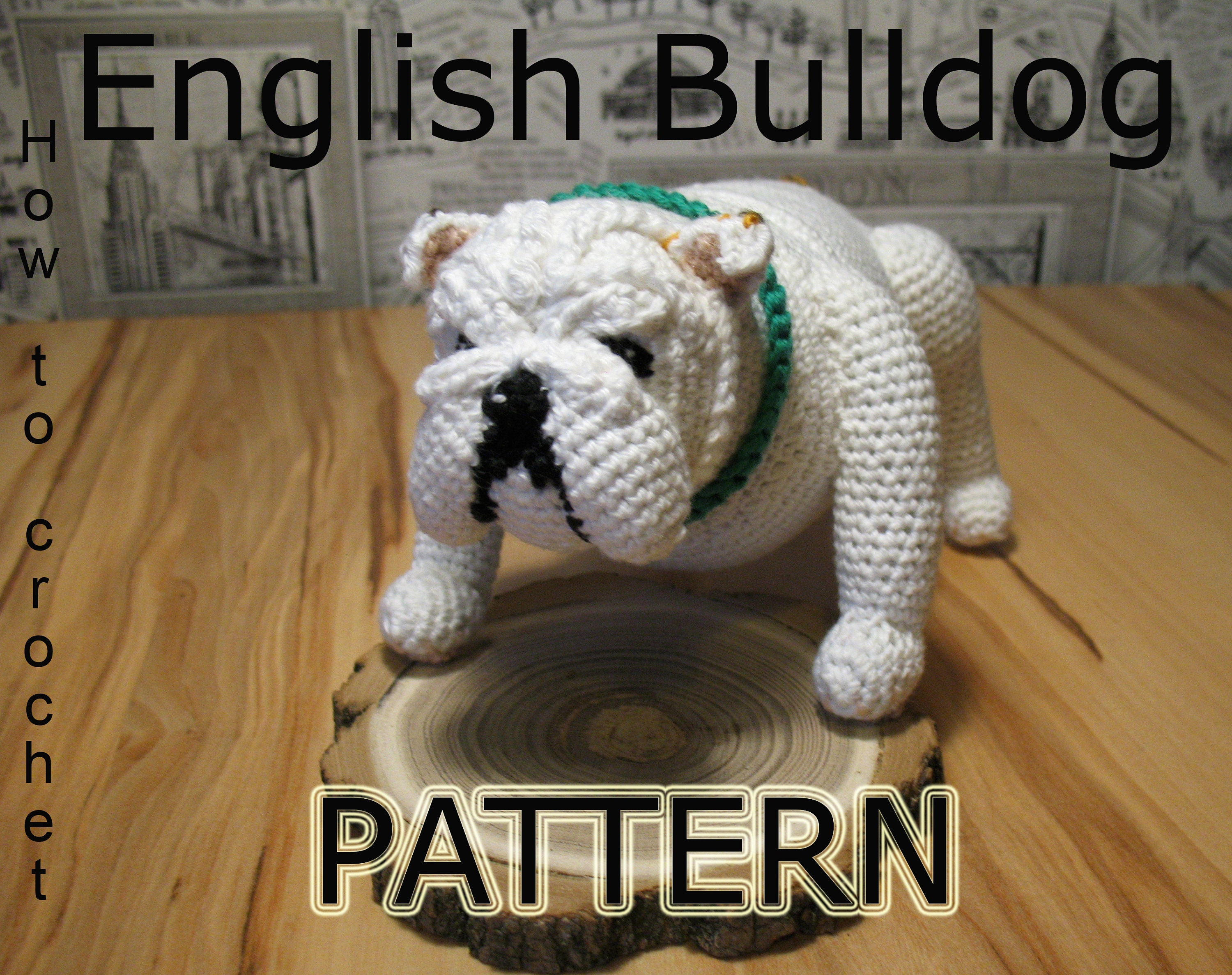 d545eaeb94a Crochet Bulldog Pattern PDF in English Amigurumi Bulldog