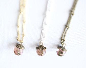 Rose Crumb Tiny Charm Necklace