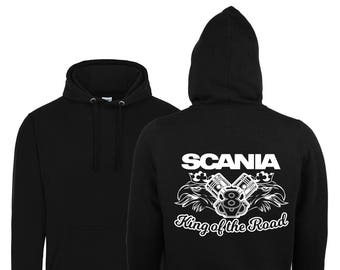Scania V8 King Of The Road 2018 Hoodie / Scania V8 Black Hoody Size Xs-5xl