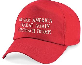 5c2e8f524b2 Donald Trump Make America Great Again Impeach Trump Embroidered Cotton  Twill Cap Hat