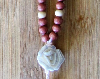 Rose-Tinted-Wood and Pink Rosary