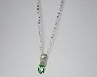 silver cubic zirconia necklace