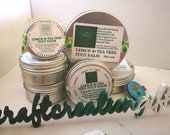 Lemon Tea Tree, Foot Balm, with Comfrey, Boneknit Oil, Essential Oils, Rich, Organic, Shea Butter, Cocoa Butter, Healing, Soothing, Salve