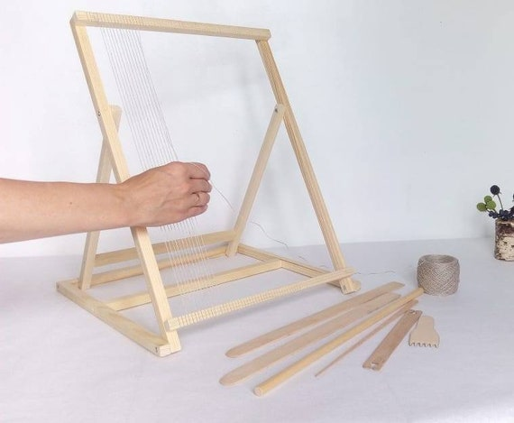 Table Loom With Stand Weaving Loom Kit Tapestry Loom And Tools   Etsy