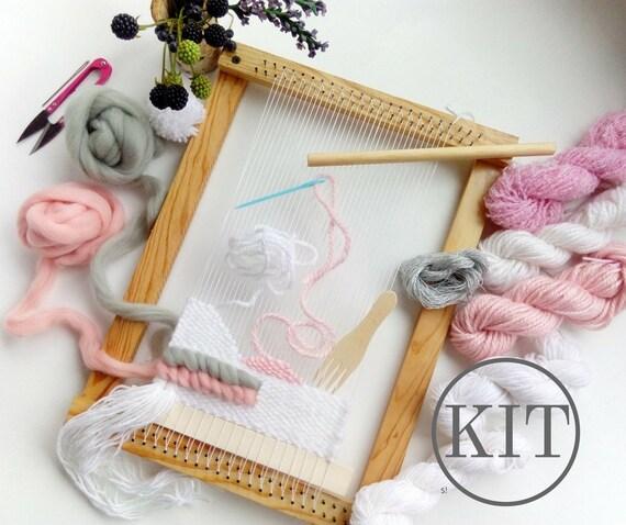 Tapestry Loom Kit For Beginner Weaving Loom Kit DIY Kits For | Etsy