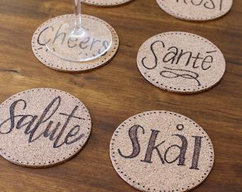 Multi-Language Cheers Coaster Set