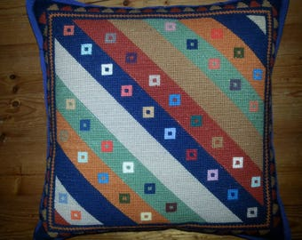 Handmade tapestry needlepoint cushion cover