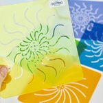 Reversible Mandala Stencil Collection- Flexible reversible stencils for dot paintings with booklet