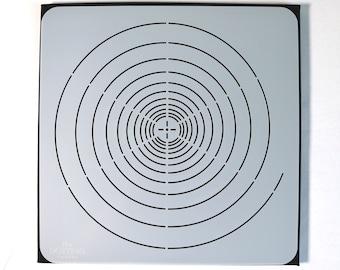 "12"" Spiral Dot Mandala Stencil - Large Spiral Stencil for dot mandala canvas, dotting"