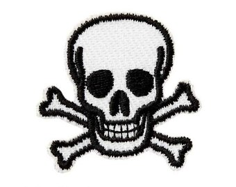 Skull black appliqué patch-New #9467