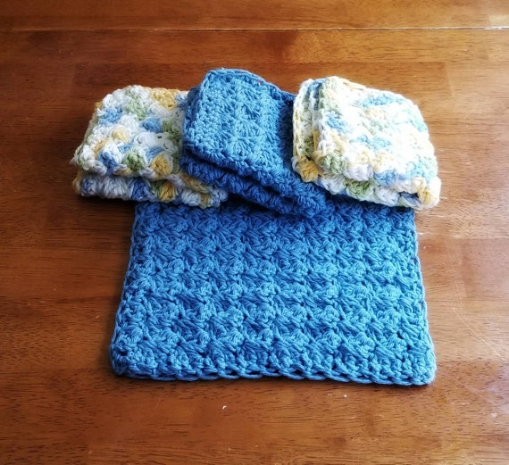 Crochet Dish Cloths For Kitchen Housewarming Gift For Couple Etsy