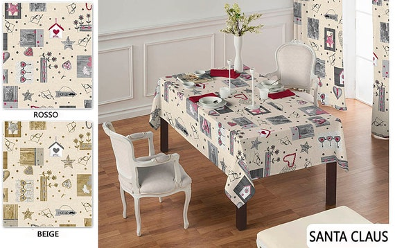 Christmas Tablecloths.Christmas Tablecloths Made In Italy