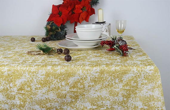 Christmas Tablecloths.Christmas Tablecloths Made In Italy Star Dust